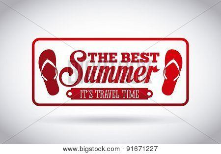 Summer design over background vector illustration