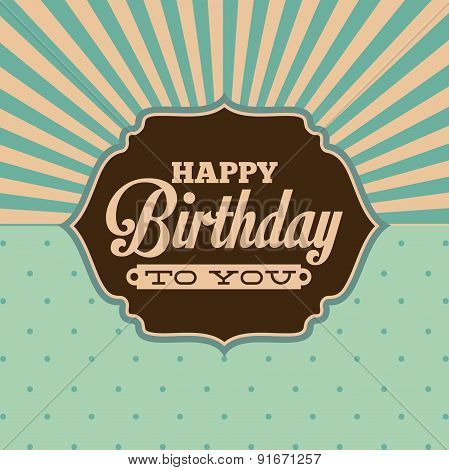 Birthday design over green background vector illustration