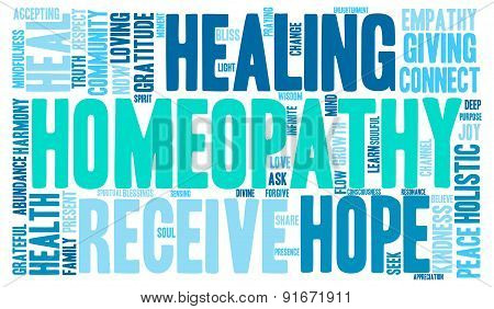 Homeopathy Word Cloud