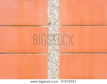 Scree Wall With Red Plate