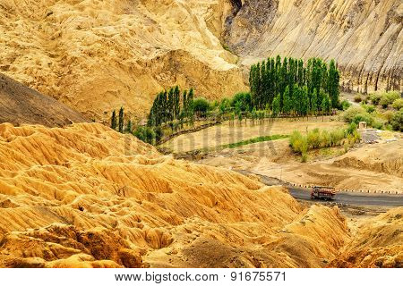 Rocks And Stones, Mountains, Ladakh Landscape Leh, Jammu Kashmir, India