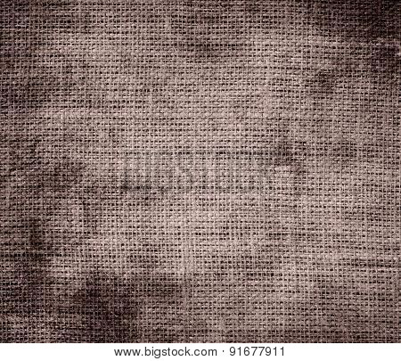 Grunge background of cinereous burlap texture