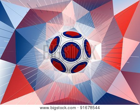 France Soccer Ball Background