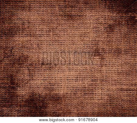 Grunge background of coconut burlap texture