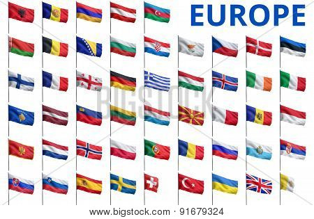 Europe - All Countries Flags