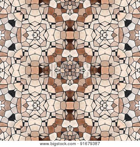 Seamless Kaleidoscope Mosaic In Brown