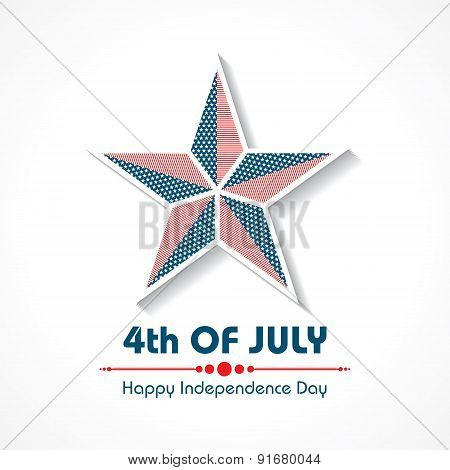 Stylish American Independence Day greeting stock vector