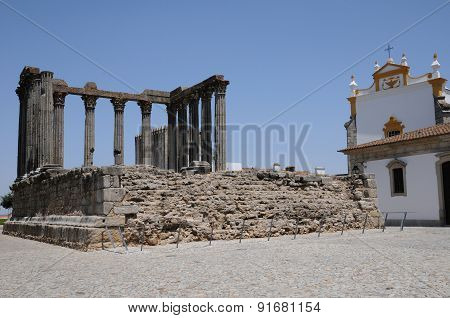 Ruin Of Roman Antic Temple