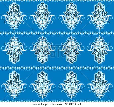 Hamsa hand  pattern
