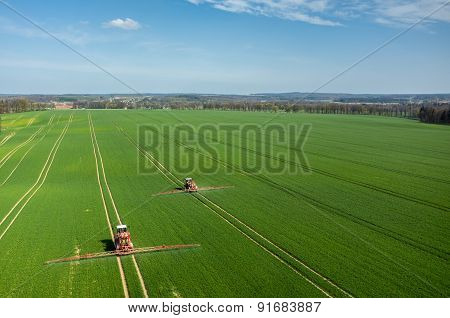 Aerial View Of The Tractor