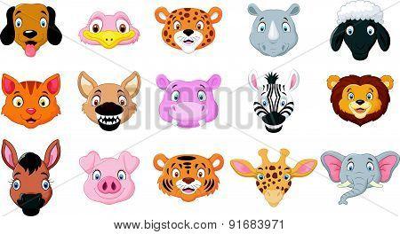 Cartoon collection animals head