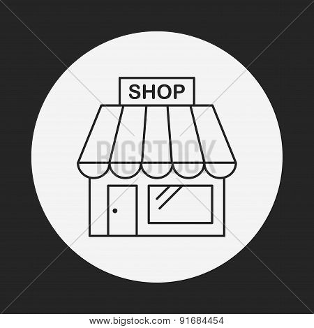 Shopping Store Line Icon