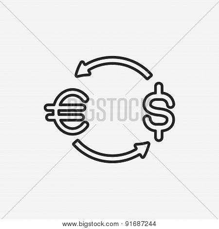 Money Exchange Line Icon