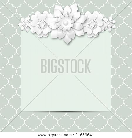 Abstract Background With Floral Motive