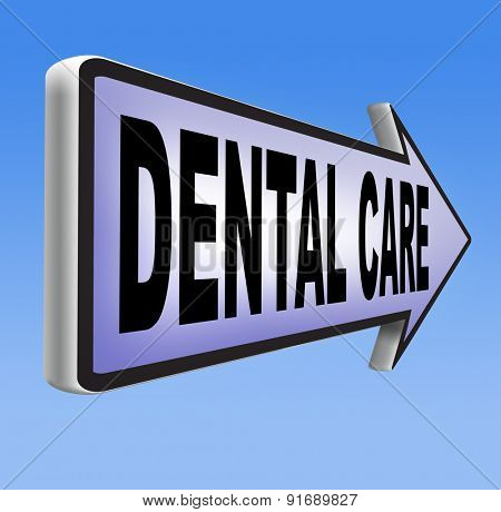 dental care center oral hygiene or surgery health insurance for healthy teeth without caries but with a beautiful smile with text