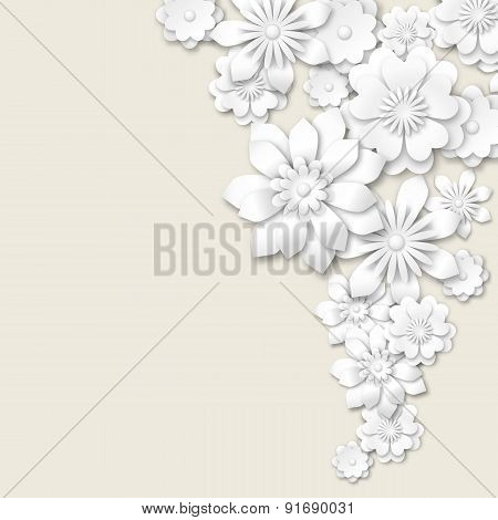 Abstract Floral Background, Illustration