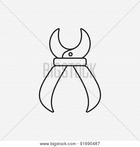 Pliers Line Icon