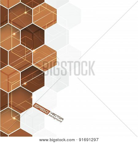 Abstract hexagonal vector background