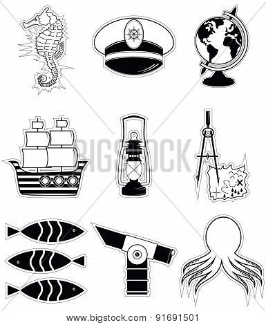 Nautical Elements 3 Sticker Style