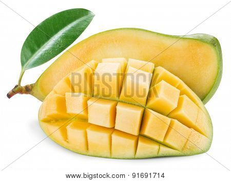 Ripe mango fruit. File contains clipping paths.