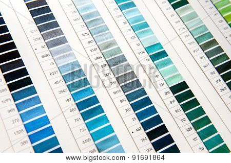 Detail Of Color Chart In Clothing Design Studio