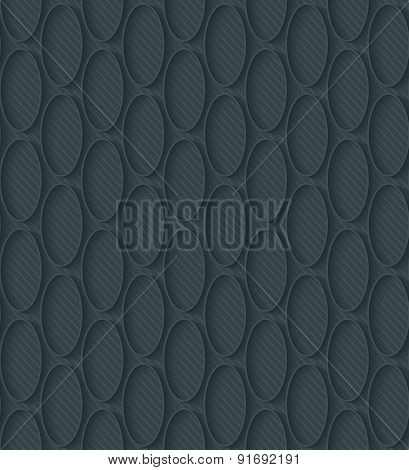 Dark perforated paper with outline extrude effect. 3d seamless wallpaper. Vector EPS10 full editable background. See others in My Perforated Paper Sets.