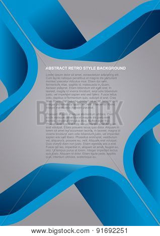 Abstract vector blue retro style background for poster, flyer or brochure