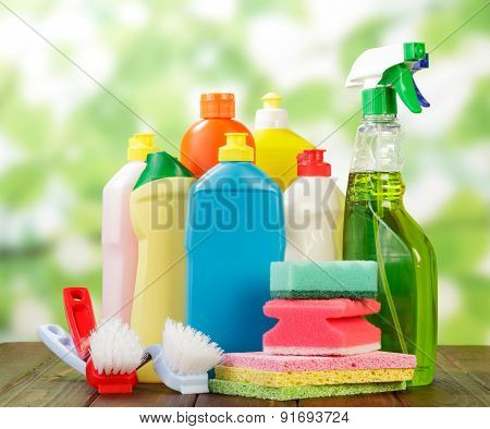 Hygiene cleanser in bottles