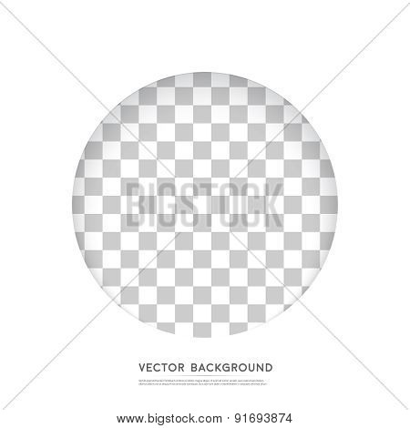 Vector Paper circle banner.