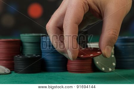 Playing Chips in hand