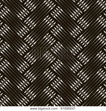 2d  Seamless Pattern With Abstract Elements Background. Monochrome Texture With Herringbone