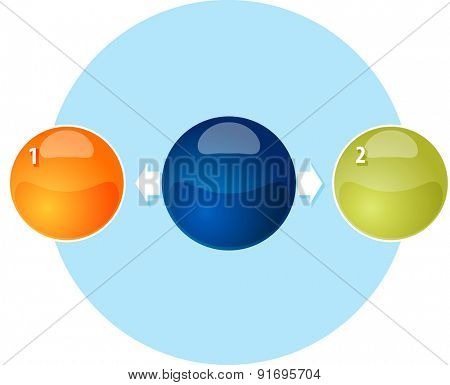 Blank outward business diagram illustration