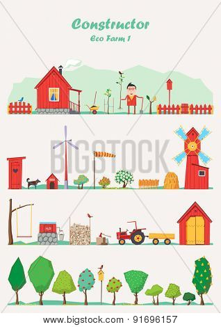 Vector constructor - eco farm ( red )