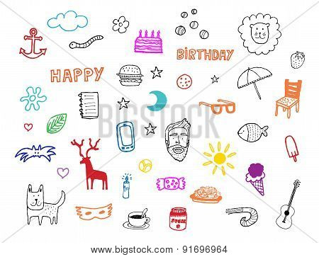 Miscellaneous Set Background Vector