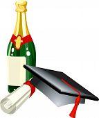 stock photo of convocation  - graduation celebration related items - JPG
