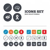 pic of breast cancer awareness ribbon  - Medicine icons - JPG