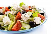 picture of greeks  - Greek salad on white background - JPG