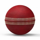 image of cricket ball  - Cricket Ball against a white back ground - JPG