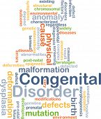pic of deformed  - Background concept wordcloud illustration of congenital disorder - JPG