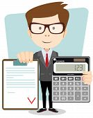 foto of calculator  - Male Accountant with a calculator - JPG