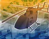 foto of medevac  - Abstract background digital collage concept illustration helicopter evac evacuation - JPG