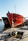 picture of loading dock  - Dry cargo ships docked at Quay Lieutenant Schmidt in St - JPG