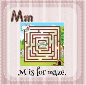 stock photo of letter m  - Flashcard letter M is for maze - JPG
