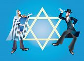 stock photo of tora  - Shmini Aceret and Simkhat of Tora complete the train of the Jewish holidays - JPG