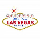 stock photo of las vegas casino  - welcome to fabulous las vegas nevada sign at day - JPG