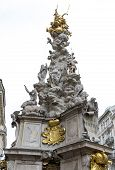 stock photo of erection  - The Plague Column is a Holy Trinity column located on the Graben in Vienna Austria - JPG