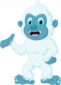 image of presenting  - Vector illustration of Cartoon yeti was presenting - JPG