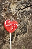 pic of valentine candy  - Candy valentines hearts on a background of wooden - JPG