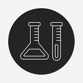 image of beaker  - Experiment Beaker Line Icon - JPG