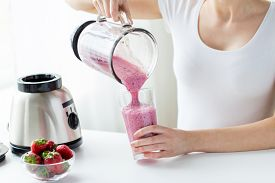 foto of fruit shake  - healthy eating - JPG